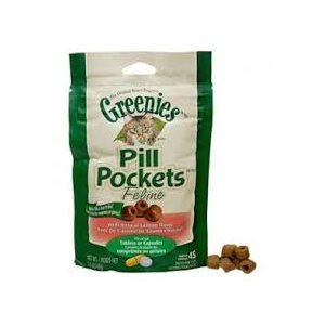 GREENIES PILL POCKETS COMPRIMÉS /  CAPSULES CHAT SAUMON 45GR