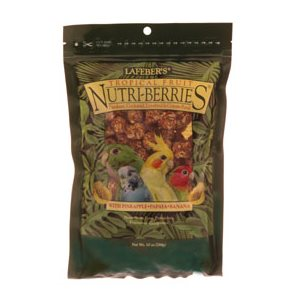 LAFEBER'S NUTRI-BERRIES FRUITS TROPICAL POUR OISEAUX 284GR