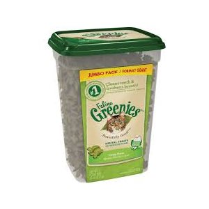 GREENIES DENTAIRES HERBE À CHAT FORMAT GÉANT 312GR