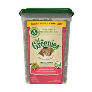 GREENIES DENTAIRES CHAT SAUMON FORMAT GÉANT 312GR