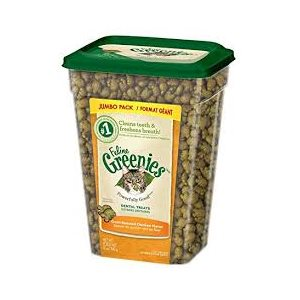 GREENIES DENTAIRES CHAT POULET FORMAT GÉANT 312GR