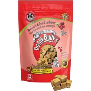 Benny Bully's cat treats with beef liver and cranberries, net weight 25g.