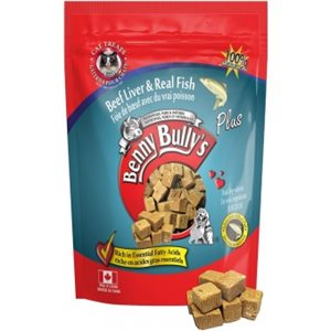 Benny Bully's cat treats with beef liver and real fish, net weight 25g.