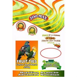Fruit-ties bird treat net weight 250gr.