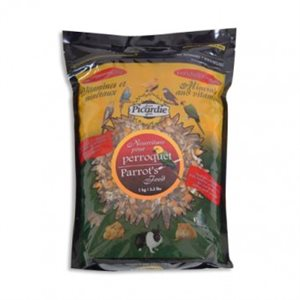 Food parrot with vitamins & minerals , net weight 1kg
