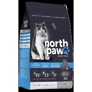 NORTH PAW SANS GRAINS CONTROLE DU POIDS CHAT 2,25KG
